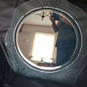 καθρέφτης με ιδιαίτερο σχέδιο,εισαγωγής,σπάνιο κομμάτι
