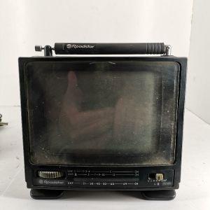 τηλεόραση φορητή με φορτιστή εποχής 1980 για συλλέκτες