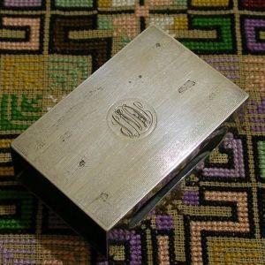 Ασημενια θήκη σπιρτων E.G. WEBSTER * USA αρχες 20ου αιώνα σε ασήμι 925/1000