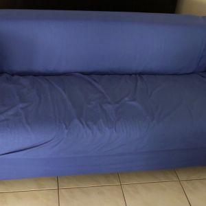 Καναπές διθεσιος με κάλυμμα πλένομενο