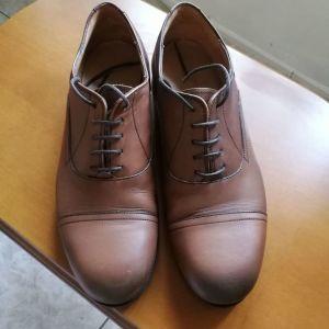 Massimo Dutti Δερμάτινα Παπούτσια ΣΑΝ ΚΑΙΝΟΥΡΓΙΑ! Χρώμα Καφε