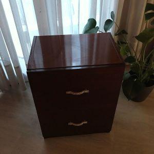 Ξύλινη συρταριέρα (Καφέ σκούρο) Υ70xΠ50xΒ35