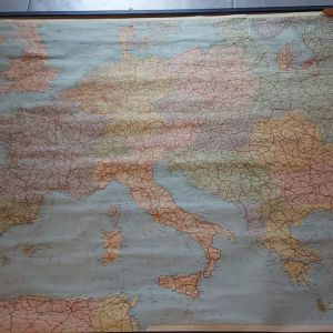 Παλιός χάρτης Ευρώπης του 1980