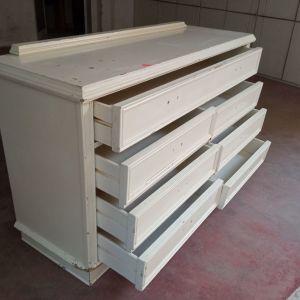 Συρταριερα ξύλινη μεγάλη με 6+1 συρτάρια