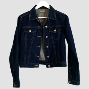 Τζιν jacket σκούρο μπλε Νο38 S-M!