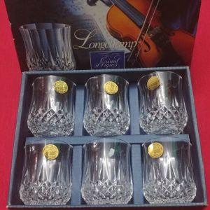 """Σφηνάκια Cristal D'arques """"Longchamp"""". Κρύσταλλο Γαλλίας 24% pbo"""