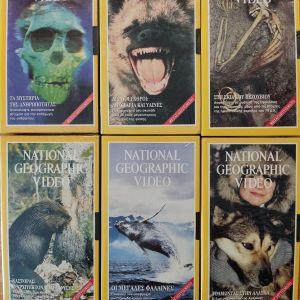 Βιντεοκασσέτες VHS National Geographic 6 τεμάχια