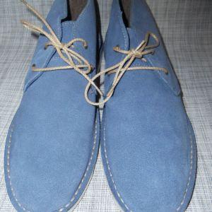 Μπλε σουέντ μποτάκια αστραγάλου - Staff Jeans