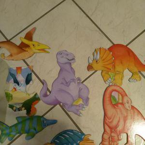 Μεγάλο παιδικό παζλ Galt 30 τεμαχίων δεινόσαυροι