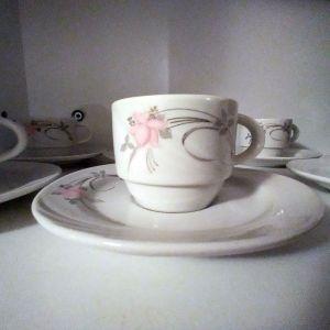 Σετ 6 φλυτζάνια του καφέ με τα πιατάκια τους Vintage 2
