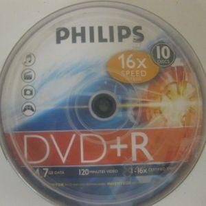 PHILIPS DVD+R P10 (CAKE BOX) 16X