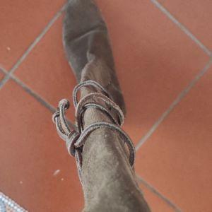 Μπότες καφέ καστορι Tomy Hilfiger