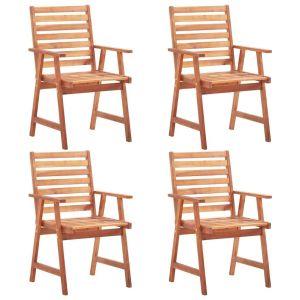 vidaXL Καρέκλες Τραπεζαρίας Εξωτερικού Χώρου 4 τεμ. Μασίφ Ξύλο Ακακίας-3051100