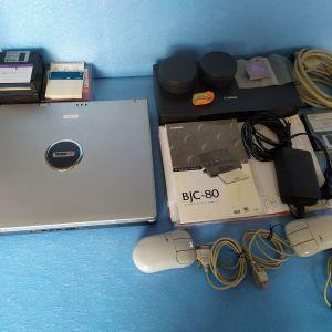 λαπτοπ TURBO,εγχρωμο εκτυπωτη/σαρωτη,φορητο CANON BJC-80,κλπ ειδη,τεμαχια 15,ολα μαζι στην τιμη των150€