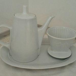 Κανάτα (καφετιέρα) και φίλτρο πορσελάνης Melitta coffee. Made in Germany, δεκαετίας'50