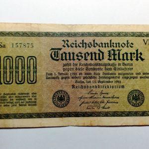 ΓΕΡΜΑΝΙΑ 1.000 Mark 1922