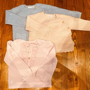 Σετ τρεις μπλούζες για βρέφη 6-9μηνων