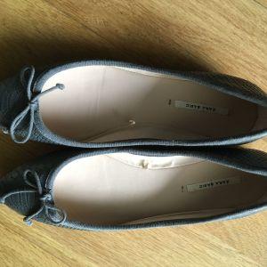 Παπούτσια μπαλαρίνες  γκρι Νο 38