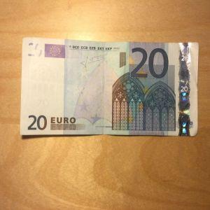 Series 2002 χαρτονομισμα σχεδον καινουριο (20αρικο ή εικοσαρικο ή εικοσαευρω οπως θελετε πειτε το!)