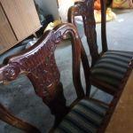Τραπεζαρία με έξη καρέκλες αντίκα