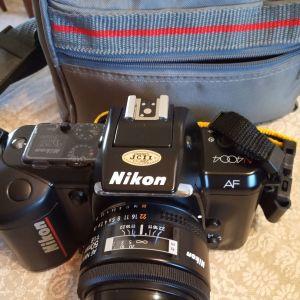 Πωλείται φωτογραφική μηχανή NIKON N4004 AF με φακούς κ φλας