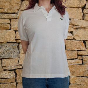 Αντρικό Polo Lacoste λευκό μπλουζάκι