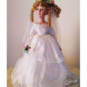 Νύφη Vintage Κούκλα Πορσελάνης