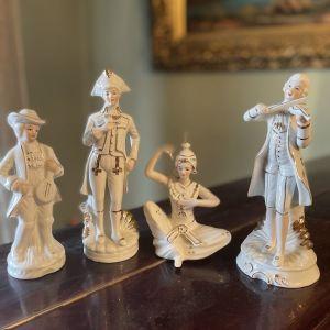 4 Vintage Αγαλματίδια Πορσελάνη