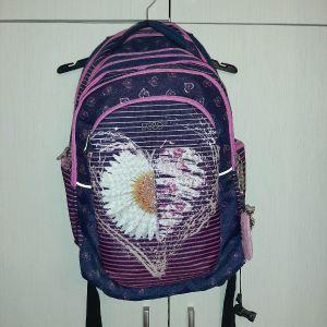 ολοκαίνουρια polo σχολικη τσάντα με πολλές θηκες