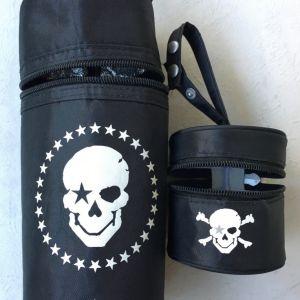 Ισοθερμική τσάντα για μπουκάλια Pirateμε την μοναδική αισθητική της σειράς Rock Star Baby. ( Και θήκη  για πιπίλες)