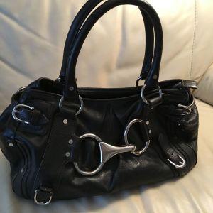 Δερμάτινη  τσάντα  KAREN MILLEN μαύρη