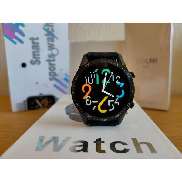 Smartwatch kenourgio me dinatotita sinomilias, custom watchfaces(vinteo stin perigrafi)