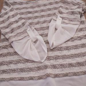Μπλούζα ριγέ με μανίκια πουκάμισο