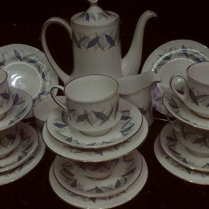 """Σερβίτσιο τσαγιού/ γαλλικού Royal Standard """"Trend"""". Πορσελάνη Αγγλίας fine bone china 1960"""