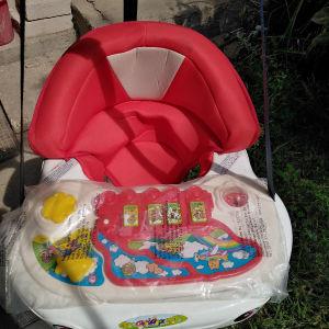 Κούνια κρεμαστή(με δαγκάνες για κούφωμα πόρτας) μωρού με δραστηριότητες - μουσική.
