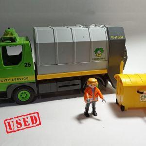 Playmobil - όχημα ανακύκλωσης με εργάτες και κάδο