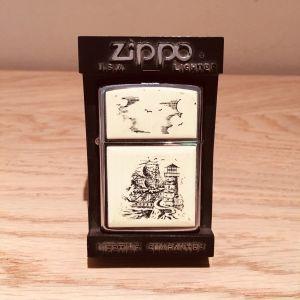 Zippo Scrimshaw Ship Lighter 359 στο κουτί του (Συλλεκτικος) Μοντέλο  Zippo VII