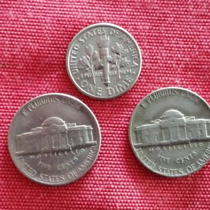 Νομίσματα Αμερικης.