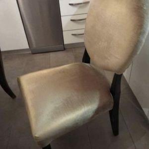 Καρέκλες Βελουδινες (μπεζ χρυσό) τραπεζαριας σε άριστη κατάσταση (διαθέτω 12τεμ)