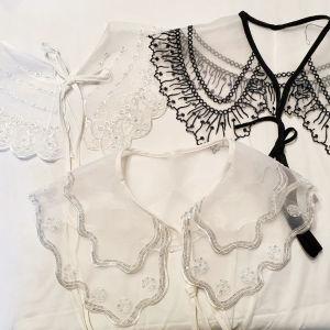 super cute embroidery organza collar
