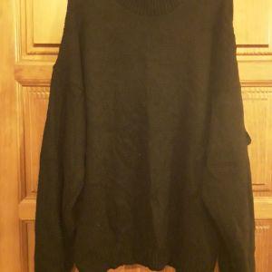 Μάλλινο μπλουζοφόρεμα μαύρο