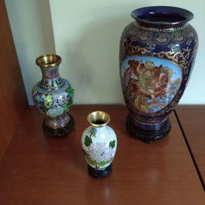 3 βάζα με κινέζικα σχέδια