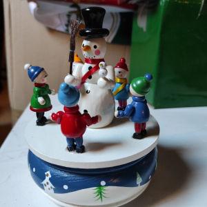 Χριστουγεννιάτικο ξύλινο μουσικό κουτί