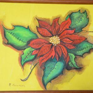 ελαιογραφία , πίνακας ζωγραφικής, λουλούδια