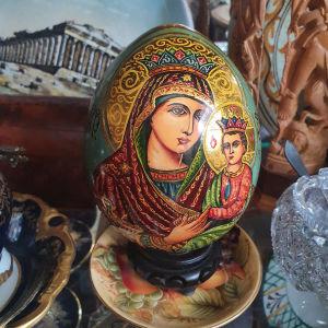 παλιο ρωσικό αυγό ξύλινο