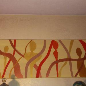 2 πίνακες χειροποιητοι ζωγραφική σε μουσαμά