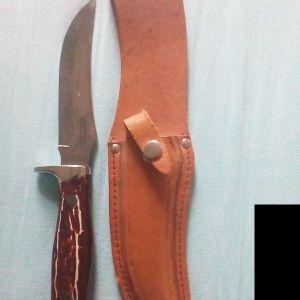 Μαχαίρι με δερμάτινη θήκη