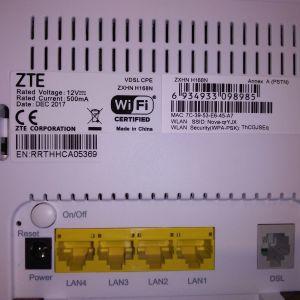 ZTE VDSL router