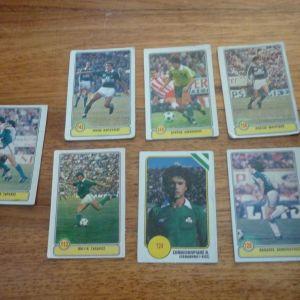 ποδοσφαιρικές κάρτες χαρτάκια Ντογιάκος '80ς