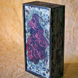 Ξύλινο διακοσμητικό κουτί κασετίνα Nelly (002)